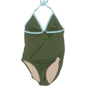 J. Crew Green Blue One Piece Swimsuit Size 14